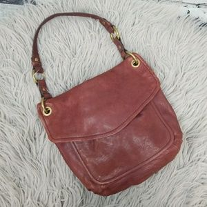 Fossil Long Live Vintage Red Shoulder Bag Purse